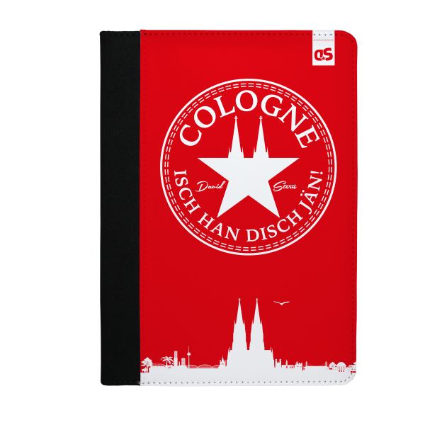 IHDJ - WhiteStar (RED) - iPad Leder FlipCase