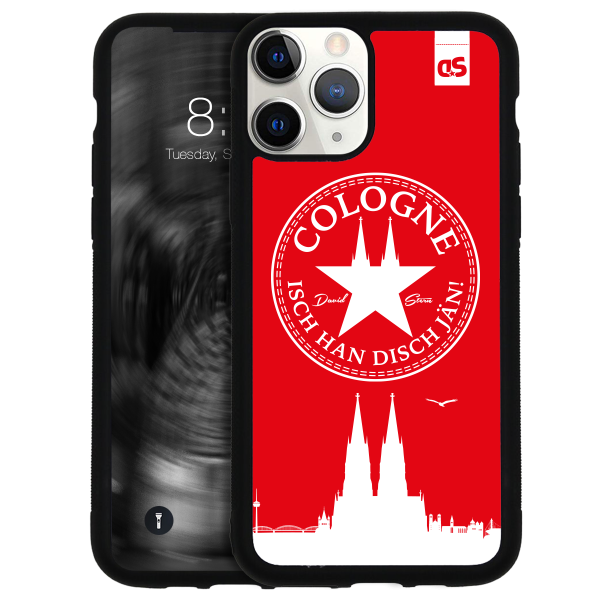Silikon Cover ISCH HAN DISCH JÄN! WhiteStar Red