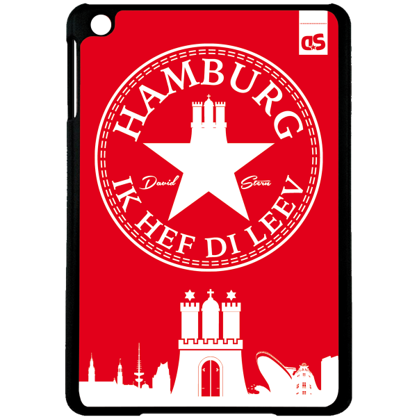 HAMBURG IHDL WhiteStar RED - iPad HardPlastic Case