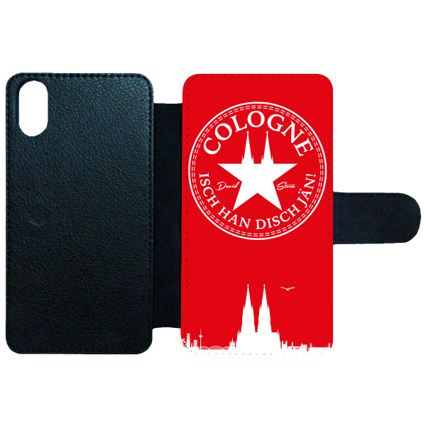 Flip Case ISCH HAN DISCH JÄN! WhiteStar Red
