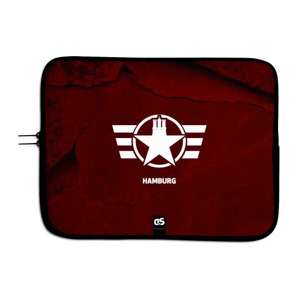 HAMBURG FORCE (Red) - Universal Laptop Sleeve