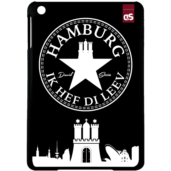 HAMBURG IHDL WhiteStar BLACK - iPad HardPlastic Case