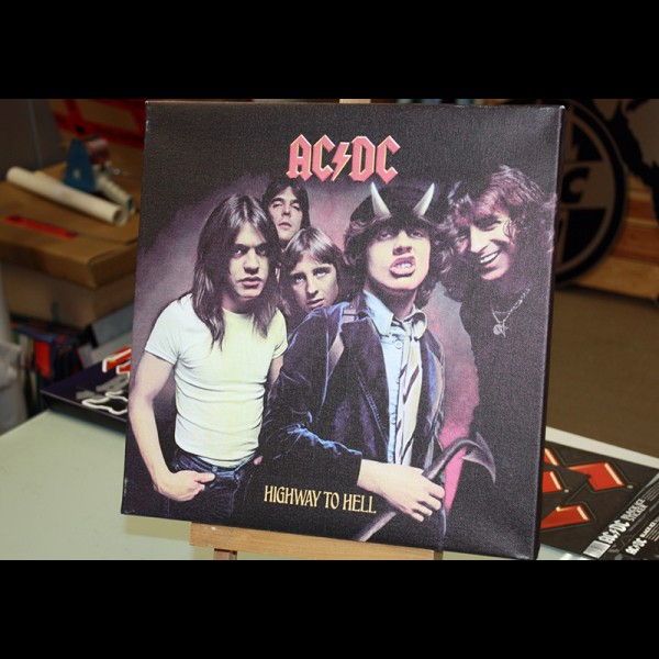"AC/DC ""HIGHWAY TO HELL"" Leinwand"