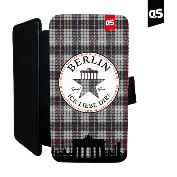 BERLIN TWEED - Universal PU-Leder Flip Case