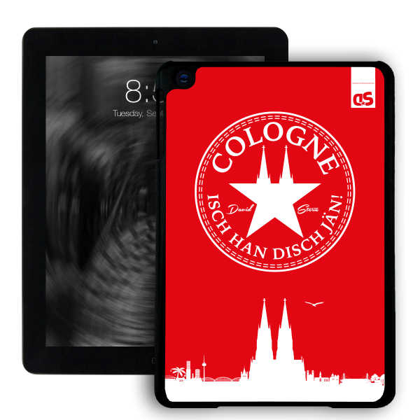 iPad HardCase IHDJ WhiteStar RED