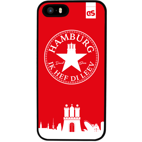 HAMBURG IHDL WhiteStar RED - Silikon Cover