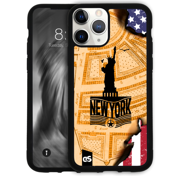 NYC - AT THE BEGINNING - New York City Phone Case aus Silikon