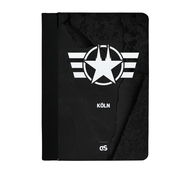 COLOGNE FORCE (Black) - iPad Leder FlipCase