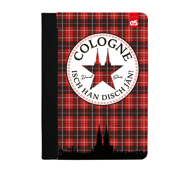 COLOGNE TWEED - iPad Leder FlipCase