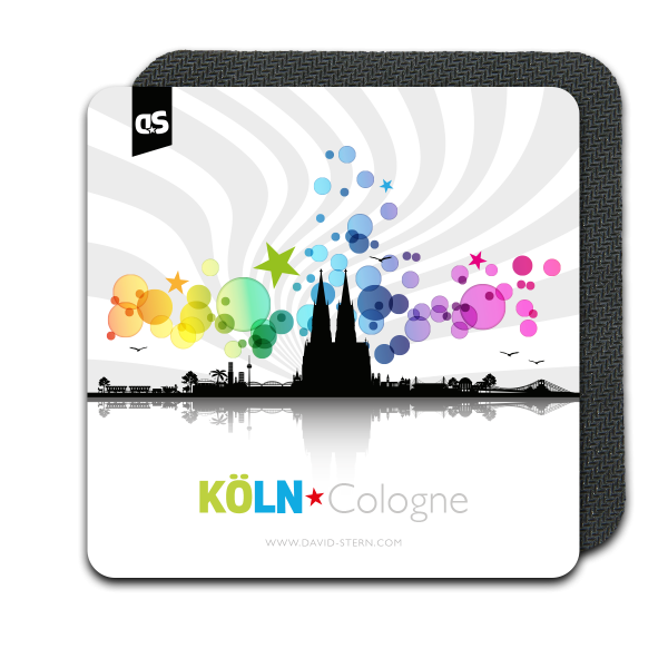 AbstractCities COLOGNE - Der KÖLN Silikon Coaster