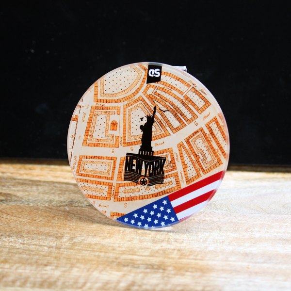 NYC - AT THE BEGINNING - New York City Glass Coaster