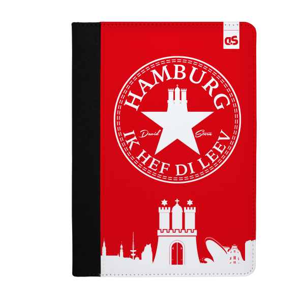 HAMBURG IHDL WhiteStar RED - iPad PU Leder FlipCase