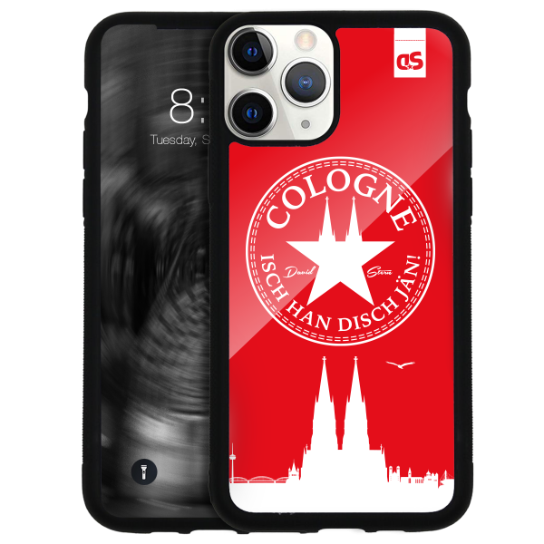 Glass Cover ISCH HAN DISCH JÄN! WhiteStar RED