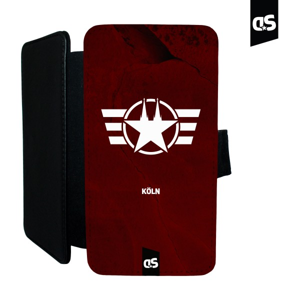 COLOGNE FORCE (red) - Universal PU-Leder Flip Case