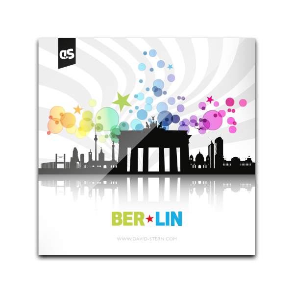 AbstractCities BERLIN - Der BERLIN Glass Coaster